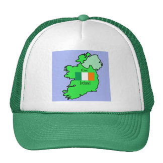 Map and Flag of Ireland Cap