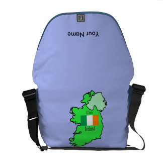 Map and Flag of Ireland Courier Bags