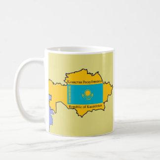 Map and Flag of Kazakhstan Coffee Mug