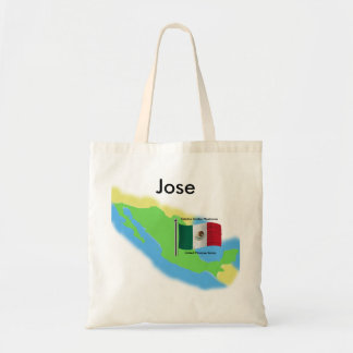 Map and Flag of Mexico Tote Bag