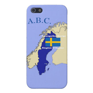 Map and Flag of Sweden iPhone 5 Covers