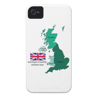Map and Flag of the United Kingdom iPhone 4 Case-Mate Cases