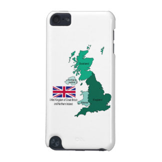 Map and Flag of the United Kingdom iPod Touch (5th Generation) Case