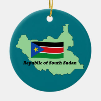 Map and Flag Republic of South Sudan  Ornament