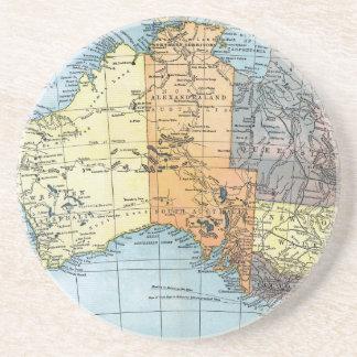 MAP: AUSTRALIA, c1890 Coaster