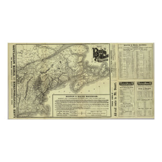 Map Boston and Maine Railroad 2 Poster