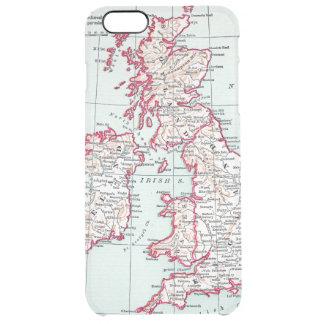 MAP: BRITISH ISLES, c1890 Clear iPhone 6 Plus Case