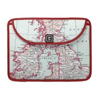 MAP: BRITISH ISLES, c1890 MacBook Pro Sleeves