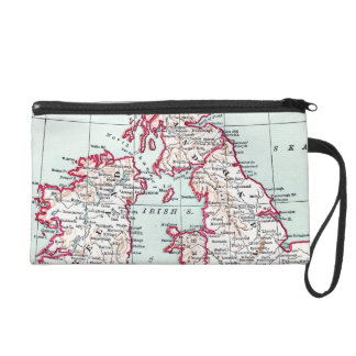MAP: BRITISH ISLES, c1890 Wristlet Purse