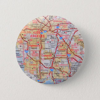 Map California LA Beverly Hills Beaches Photo 6 Cm Round Badge