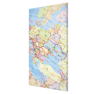 Map Gallery Wrap Canvas