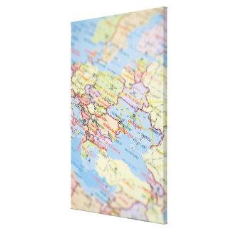 Map Canvas Prints