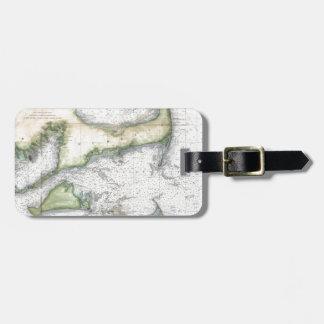 Map Cape Cod, Nantucket, Martha's Vineyard Luggage Tag