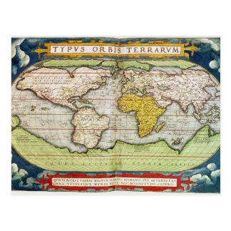 Map charting Sir Francis Drake's Postcard