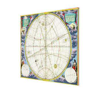 Map Charting the Movement of the Earth and Planets Canvas Prints