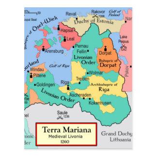 Map circa 1260 post card