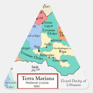 Map circa 1260 triangle sticker