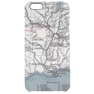 MAP: CIVIL WAR, 1861 CLEAR iPhone 6 PLUS CASE