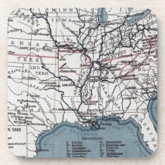 MAP: CIVIL WAR, 1861 COASTER