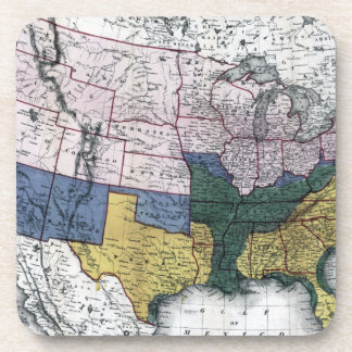 MAP: CIVIL WAR, 1864 BEVERAGE COASTERS