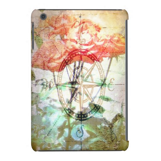 Map, Compass, Roses iPad Mini Covers