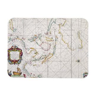 MAP: EAST INDIES, 1670 RECTANGULAR PHOTO MAGNET