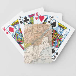 MAP: EASTERN CANADA BICYCLE PLAYING CARDS
