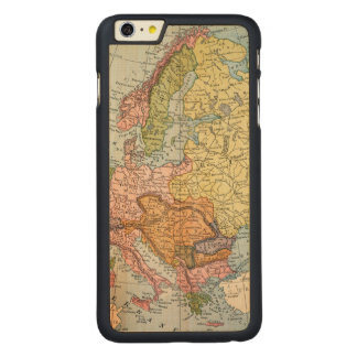 MAP: EUROPE, 1885 CARVED® MAPLE iPhone 6 PLUS CASE