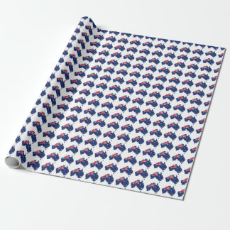 Map Flag Australia Wrapping Paper