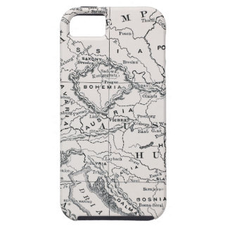 MAP: GERMANY AND AUSTRIA iPhone 5 CASE