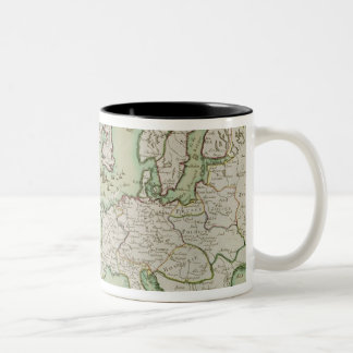 Map illustrating the Naval Attack on England Two-Tone Coffee Mug
