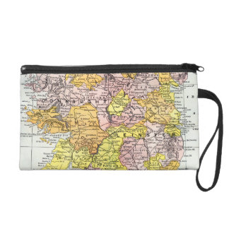 MAP: IRELAND, c1890 Wristlet Purse