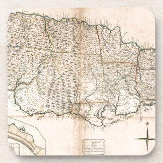 MAP: JAMAICA, 1755 2 BEVERAGE COASTER