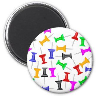Map Knob Pins 6 Cm Round Magnet