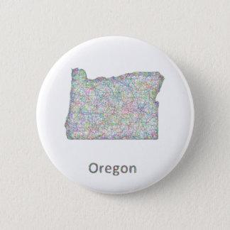 map_line_US_01_Oregon.ai 6 Cm Round Badge