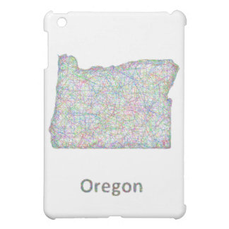 map_line_US_01_Oregon.ai iPad Mini Cases