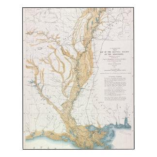 MAP: MISSISSIPPI RIVER, 1861