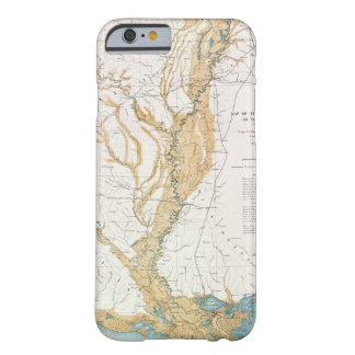MAP: MISSISSIPPI RIVER, 1861 BARELY THERE iPhone 6 CASE