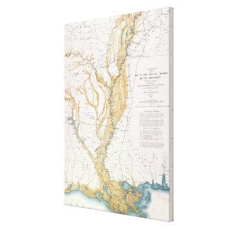 MAP: MISSISSIPPI RIVER, 1861 CANVAS PRINT