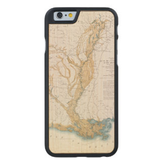 MAP: MISSISSIPPI RIVER, 1861 CARVED® MAPLE iPhone 6 SLIM CASE