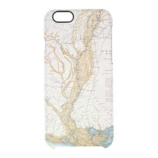 MAP: MISSISSIPPI RIVER, 1861 CLEAR iPhone 6/6S CASE