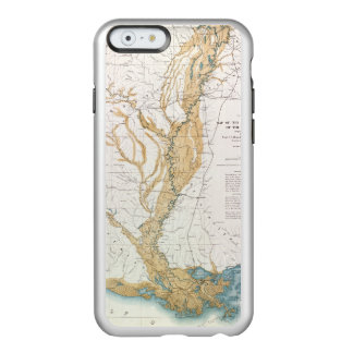 MAP: MISSISSIPPI RIVER, 1861 INCIPIO FEATHER® SHINE iPhone 6 CASE