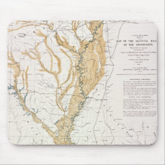 MAP: MISSISSIPPI RIVER, 1861 MOUSE PAD