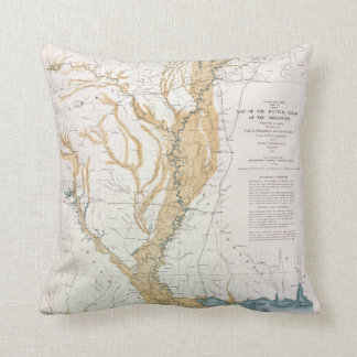 MAP: MISSISSIPPI RIVER, 1861 THROW PILLOW