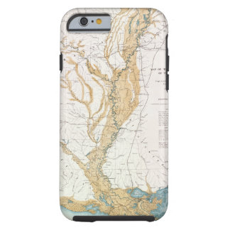 MAP: MISSISSIPPI RIVER, 1861 TOUGH iPhone 6 CASE
