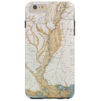 MAP: MISSISSIPPI RIVER, 1861 TOUGH iPhone 6 PLUS CASE