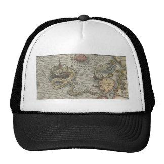 Map Monster Sea Serpent Trucker Hat