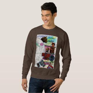 map mundi, boat, Japanese and figures - glue Sweatshirt