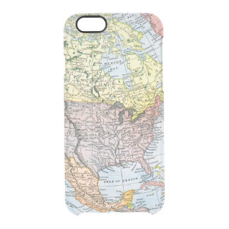 MAP: NORTH AMERICA, 1890 CLEAR iPhone 6/6S CASE