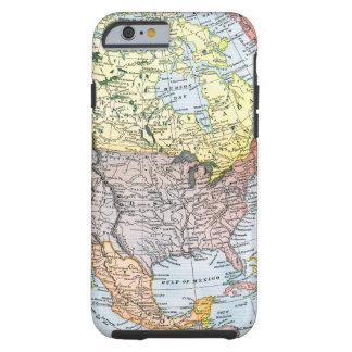 MAP: NORTH AMERICA, 1890 TOUGH iPhone 6 CASE